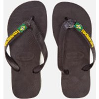 Havaianas Kids Brasil Logo Flip Flops - Black - EU 27-28/UK 10-11 Kids - Black