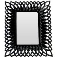 Swirl Photo Frame 5 x 7 - Black High Gloss