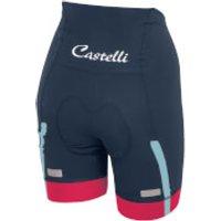 Castelli Womens Velocissima Shorts - Midnight Navy/Raspberry - L - Navy/Pink
