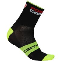 Castelli Rosso Corsa 9 Socks - Black/Yellow - L-XL - Black/Yellow