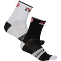 Castelli Rossocorsa 9 Socks - XXL - Dark Steel Blue