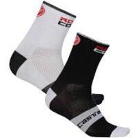 Castelli Rossocorsa 6 Socks - XXL - Dark Steel Blue