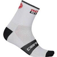 Castelli Rosso Corsa 9 Socks - Xxl - White