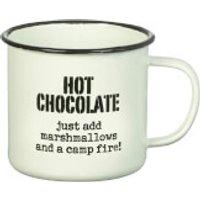 Parlane Hot Chocolate Enamel Mug - White (8 x 9cm)