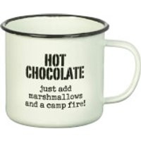 Parlane Hot Chocolate Enamel Mug - White (8 x 9cm)