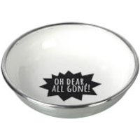 Parlane All Gone Aluminium Bowl - White/ Black (13cm)