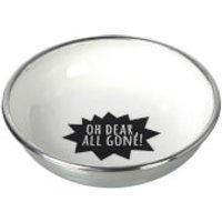 Parlane All Gone Aluminium Bowl - White/ Black (13cm)