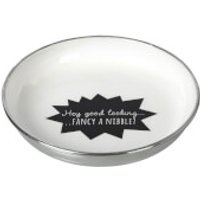 Parlane 'Nibble' Aluminium Bowl - White/ Black (21cm)