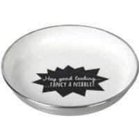 Parlane Nibble Aluminium Bowl - White/ Black (21cm)