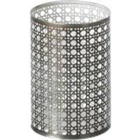 Parlane Toronto Metal Tealight Holder - Grey/White (13.5 x 9cm)