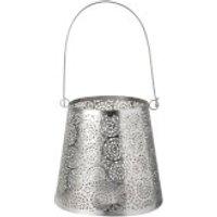 Parlane Alma Metal Lantern - Silver (14 x 14cm)