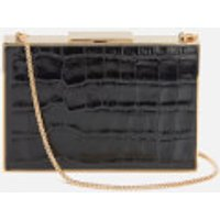 Aspinal of London Womens Scarlett Box Clutch Bag - Black