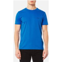 BOSS Green Mens Small Logo T-Shirt - Victoria Blue - XL