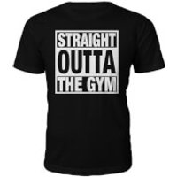 Mens Straight Outta The Gym Slogan T-Shirt - Black - M