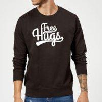 Free Hugs Slogan Sweatshirt - Black - XXL - Black