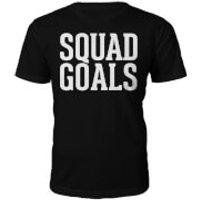 Squad Goals Slogan T-Shirt - Black - L - Black