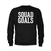 Mens Squad Goals Slogan Sweatshirt - Black - S