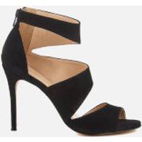 Carvela Womens Gene Suede Triple Strap Heeled Sandals - Black - UK 5 - Black