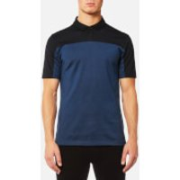 HUGO Mens Domfort Colour Block Polo Shirt - Navy - S - Blue