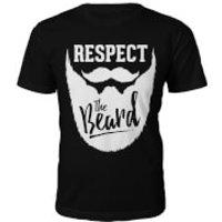 Respect The Beard Slogan T-Shirt - Black - M - Black