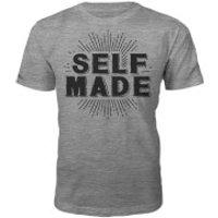 Self Made Slogan T-Shirt - Grey - XL - Grey