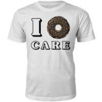 I Donut Care Slogan T-Shirt - White - XL - White