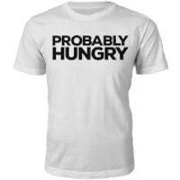 Probably Hungry Slogan T-Shirt - White - M - White