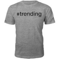 #Trending Slogan T-Shirt - Grey - S - Grey