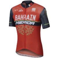 Sportful Bahrain Merida BodyFit Pro Race Short Sleeve Jersey - Red/Blue - M - Red/Blue