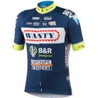 Kalas Wanty Groupe Gobert Replica Team Short Sleeve Jersey - S - Blue/White/Red