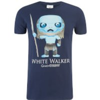 Game of Thrones Mens White Walker Funko T-Shirt - Navy - S - Blue
