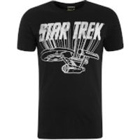 Star Trek Men's Enterprise Logo T-Shirt - Black - S - Black - Star Trek Gifts