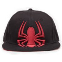 Marvel Spider-Man Embroidered Logo Snapback Cap - Black/Red