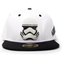 Star Wars Snapback Cap with Stormtrooper Embroidery and Black Bill - White - Black Gifts