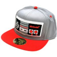 Nintendo NES Controller Cotton Snapback Cap - Grey