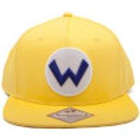 Nintendo Super Mario Wario Logo Snapback Cap - Yellow