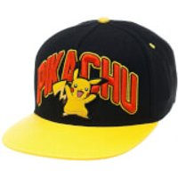Pokemon Pikachu Snapback Cap with Yellow Bill - Black