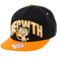 Pokmon Meowth Snapback Cap - Black/Orange