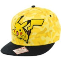 Pokemon Pikachu Snapback Cap - Yellow Camo/Black