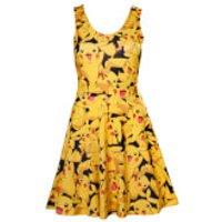 Pokémon Women's All Over Pikachu Dress - Yellow - XL - Yellow - Pikachu Gifts