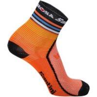 Santini De Rosa 17 Coolmax Socks - Orange - XS-S - Orange