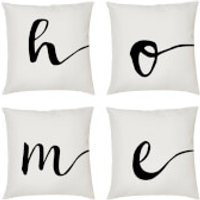 Alphabet Script Cushion - A