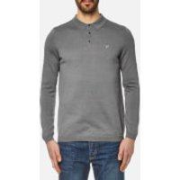Lyle & Scott Men's Long Sleeve Mercerised Cotton Knitted Polo Shirt - Mid Grey Marl - S - Grey