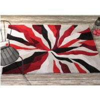Flair Infinite Splinter Rug - Red - 160X220cm