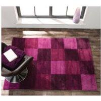 Flair Infinite Inspire Rug - Squared Aubergine - 160X230cm