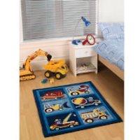 Flair Kiddy Play Rug - Trucks Boy (80X100) - Trucks Gifts