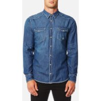 BOSS Orange Mens Erodio Denim Shirt - Blue - XXL - Blue