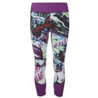Primal Womens Alpine Crop Tights - Camo - S - Purple/Multi