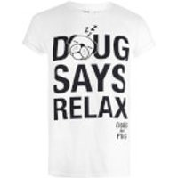 Doug The Pug Women's Relax T-Shirt - White - XL - White - Relax Gifts