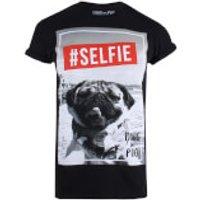 Doug The Pug Women's Selfie T-Shirt - Black - S - Black - Selfie Gifts